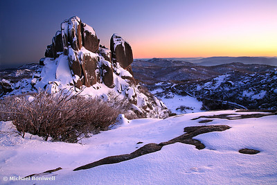 A crystal clear winter dawn, The Cathedral, Mt Buffalo, Victoria