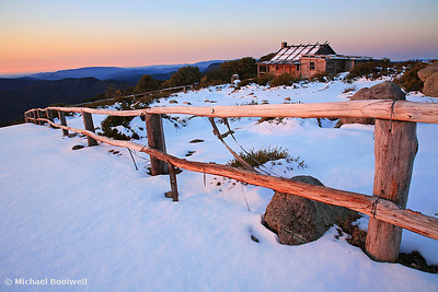 Fading Light, Craig's Hut, Mt Stirling. Victoria