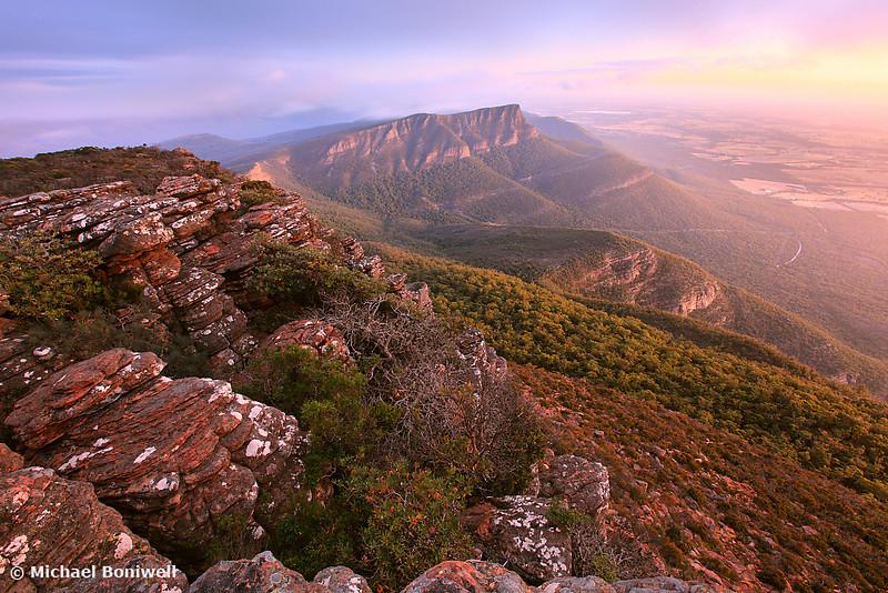 Redman's Bluff from Mt William, Grampians, Victoria, Australia