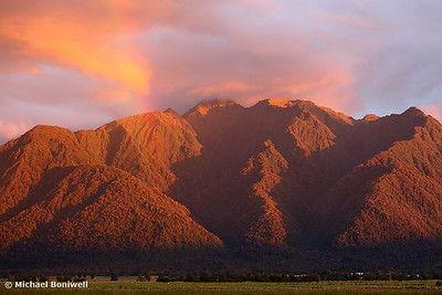 Fox Glacier Valley Sunset, South Island, New Zealand