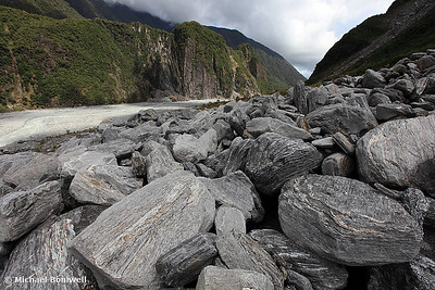 Boulder Field, Fox Glacier Ravine, South Island, New Zealand