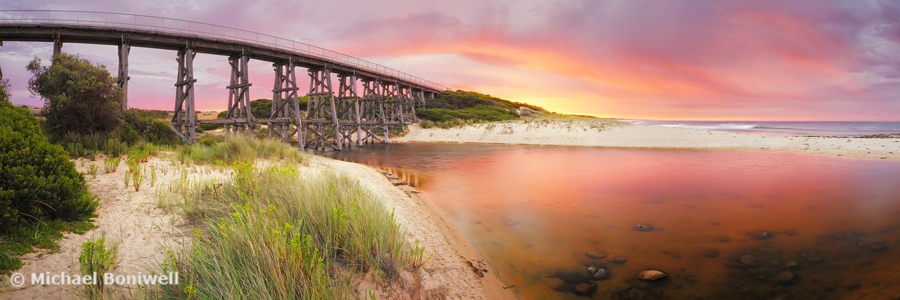 Kilcunda Trestle Bridge, Gippsland, Victoria, Australia