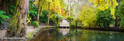 Boathouse in Autumn, Alfred Nicholas Gardens, Melbourne, Victoria, Australia