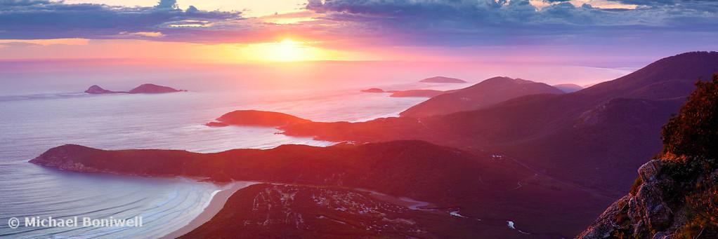 Sunset from Mt Oberon, Wilsons Promontory, Victoria Australia