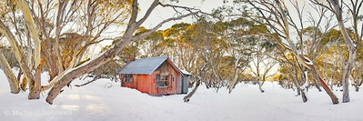 Winter at JB Plain Hut, Mt Hotham, Victoria, Australia