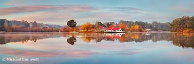 Lake Daylesford Boat House, Victoria, Australia