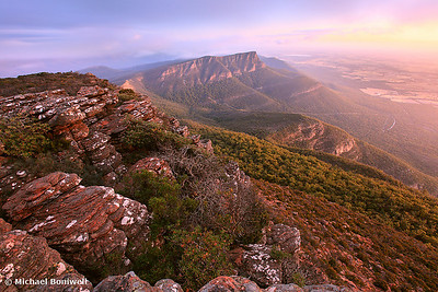 Redman's Bluff from Mt William, Grampians, Victoria, Australia