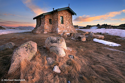 Dawn Breaks, Seamans Hut, NSW, Mt Kosciusko, Australia.