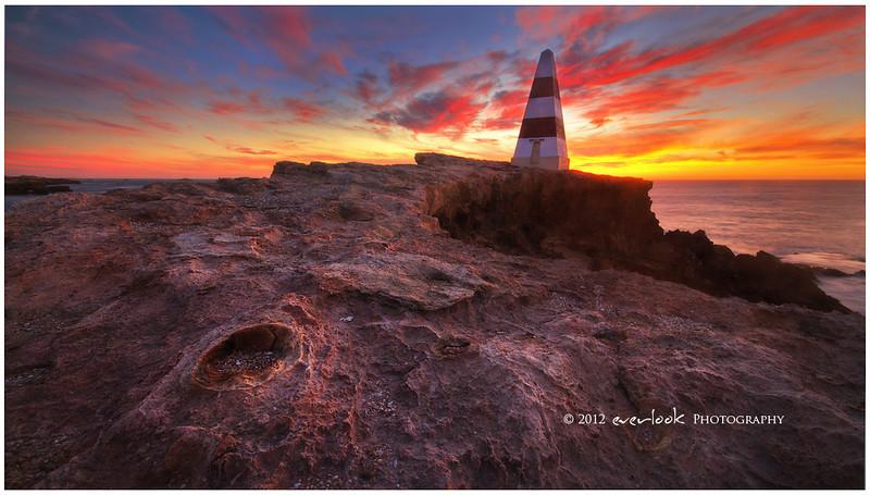Obelisk at sunset
