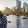 Sunset on Yarra River