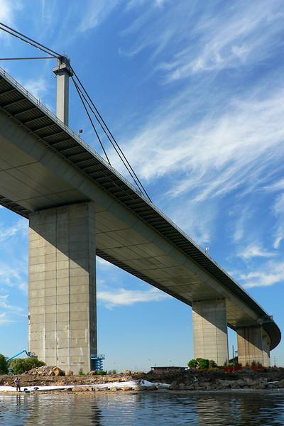 Westgate Bridge - Fisherman Below
