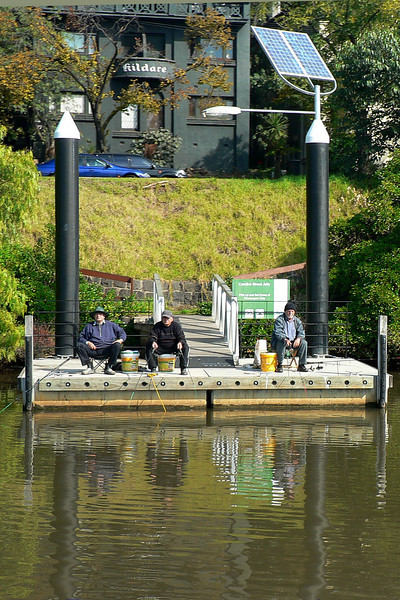 This is the Life - Old blokes fishing from a jetty at South Yarra