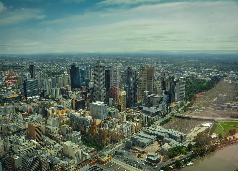 views from the top of eureka tower skydeck