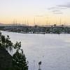 Gladstone Marina, looking toward coal handling terminal - soon to be transferred to a nearby island.