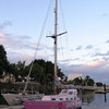 Ella's Pink Lady - the boat on which 16 year-old Jessica Watson circumnavigated the world, solo. At 10.23 meters, it would fit on Velella's deck.