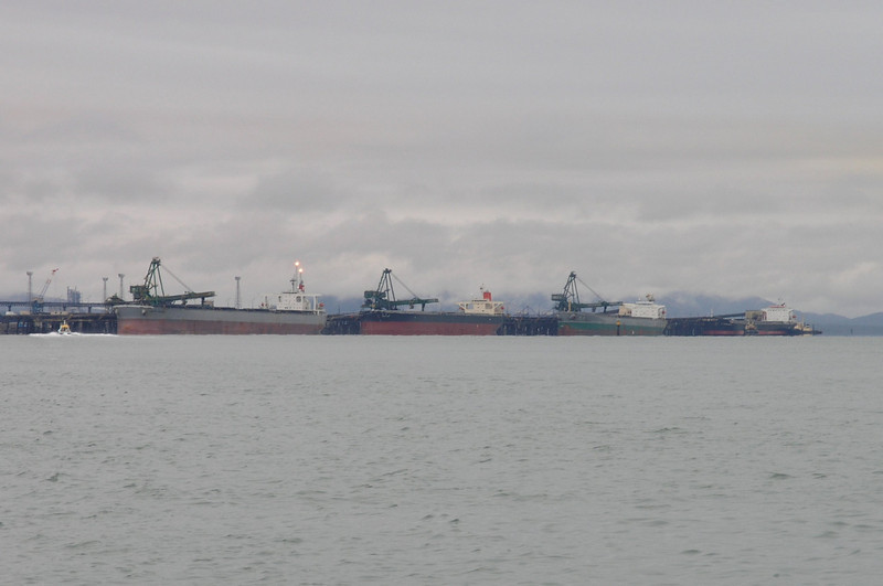 Gladstone Harbour - ships being loaded