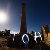 Hughes Enginehouse (Moonta Mines)<br /> Jules, Alicia and Dylan lightpainting