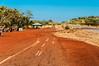 Remnants of the historic road, built between Mount Isa & Camooweal during WW2