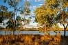 Campsite at Camooweal on Lake Canellan, Queensland, Australia