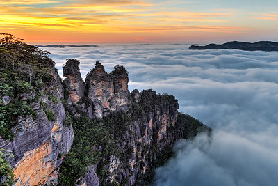 The Three Sisters at Sunrise
