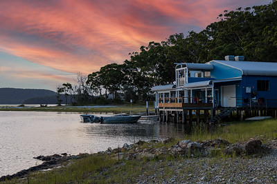 Sunset at Frothy Coffee Boatshed