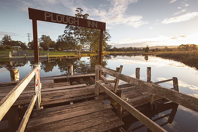 The Old Plough Inn Wharf on the Myall River