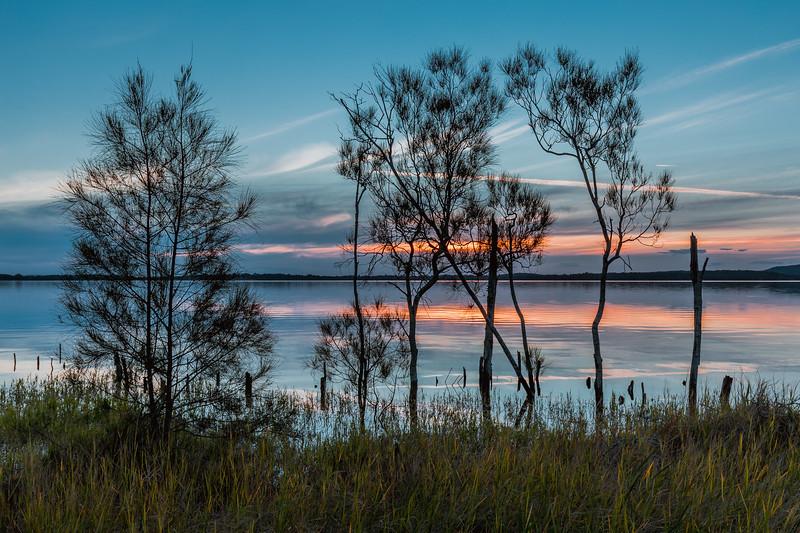 Sunset over Grahamstown Dam