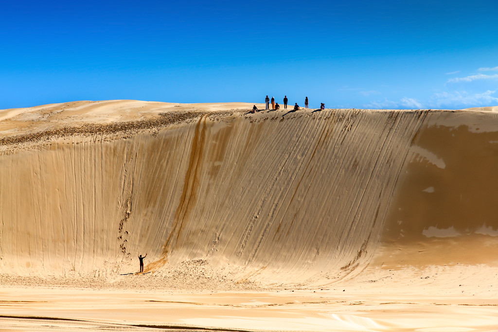 Sandboarding in the Stockton Sand Dunes, Port Stephens
