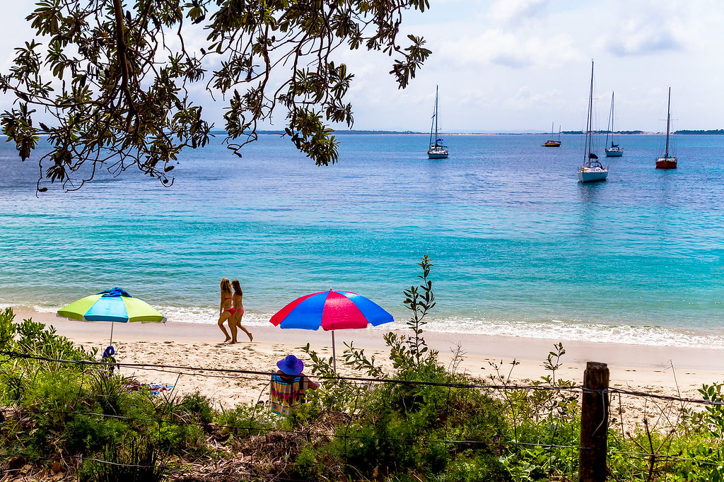 A sunny autumn day at Shoal Bay, Port Stephens