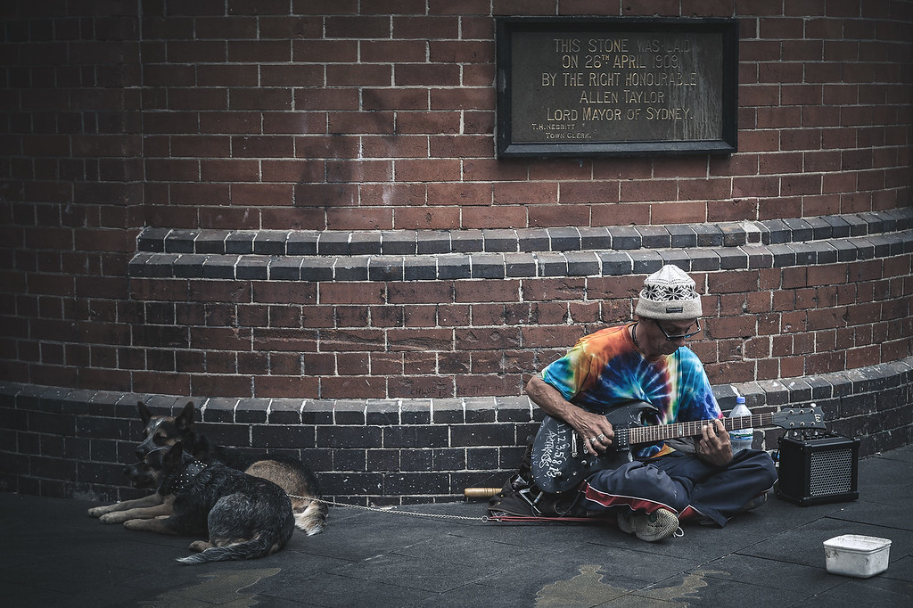Sydney Busker and his Cattle Dogs
