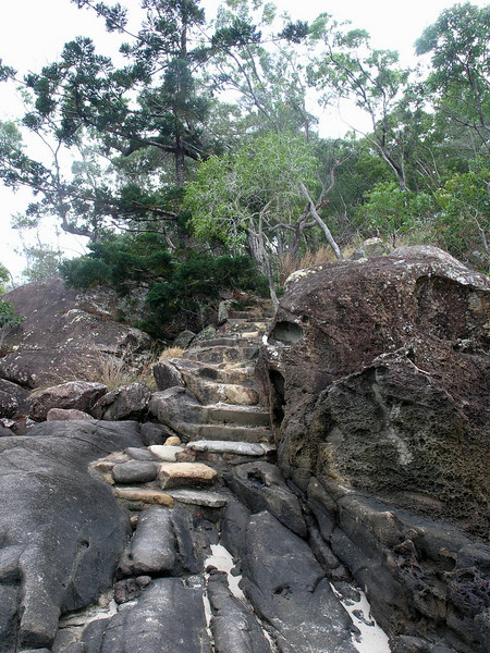 Steps to Aboriginal site.