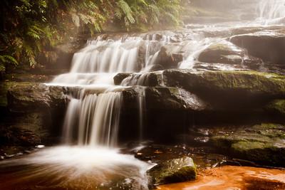 Leura Cascades in the Blue Mountains near Katoomba and Leura, Australia