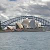 The Harbor Bridge and Opera                                       House in Sydney, Australia