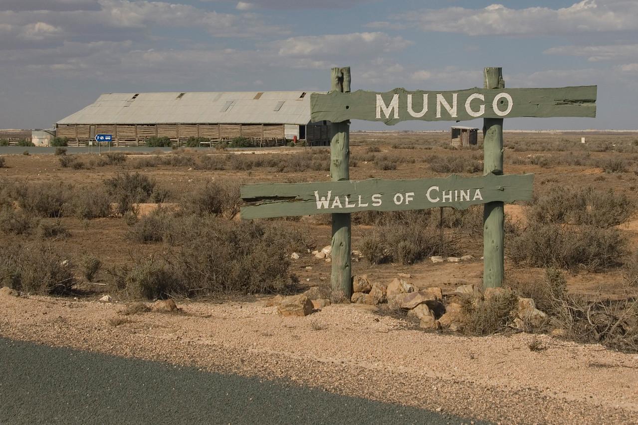 Mungo Sign  - Mungo National Park, New South Wales, Australia