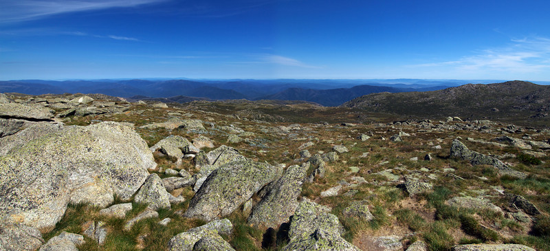 Mount Kosciuszko Summit Panorama - Mount Kosciuszko National Park, New South Wales, Australia