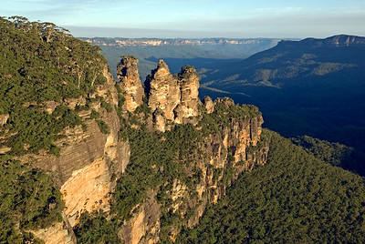 Three Sisters at Sunset - Blue Mountains National Park, New South Wales, Australia