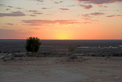 Sunset on Lake Mungo - Mungo National Park, New South Wales, Australia