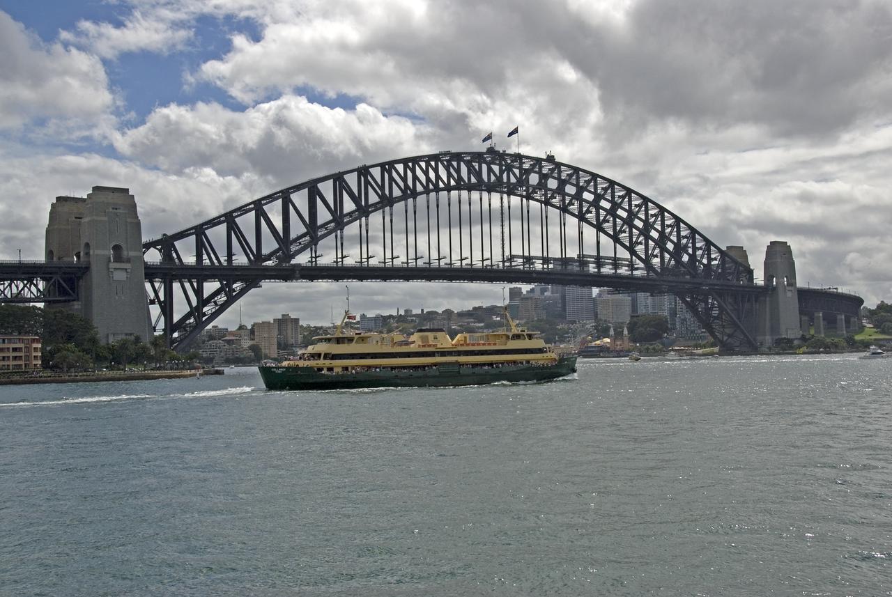 Harbor Bridge With Boat - Sydney, NSW, Australia
