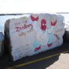 Painted breakwater rocks<br /> <br /> Hullámtörő kövek festve
