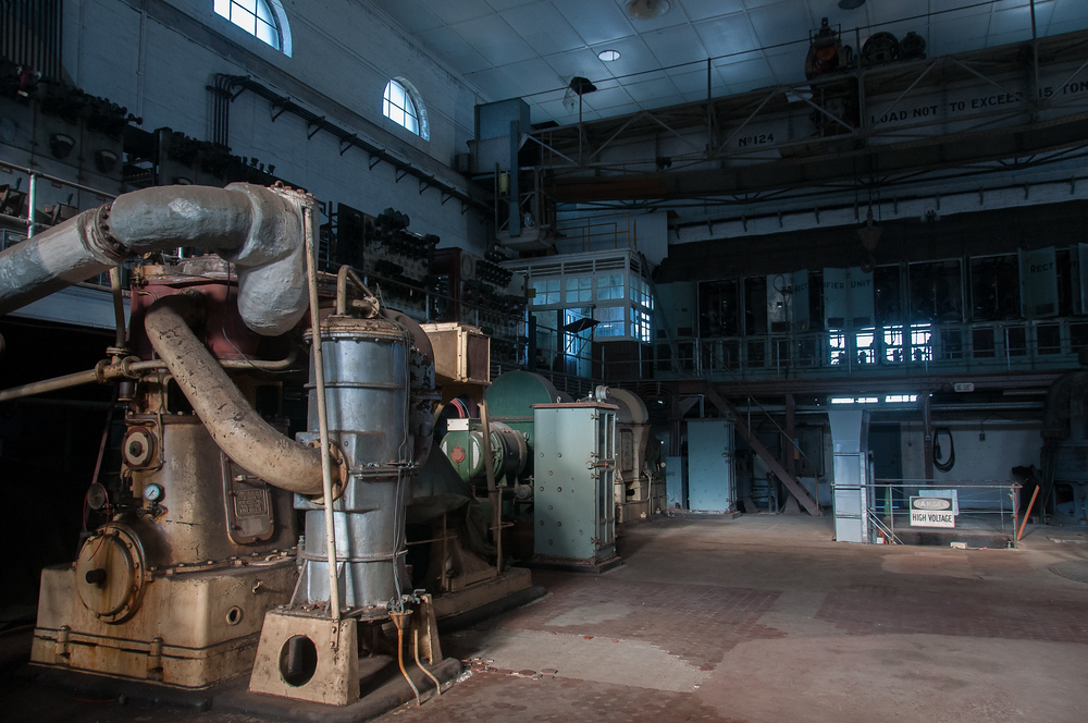 Abandoned power generation plant on Cockatoo Island, New South Wales
