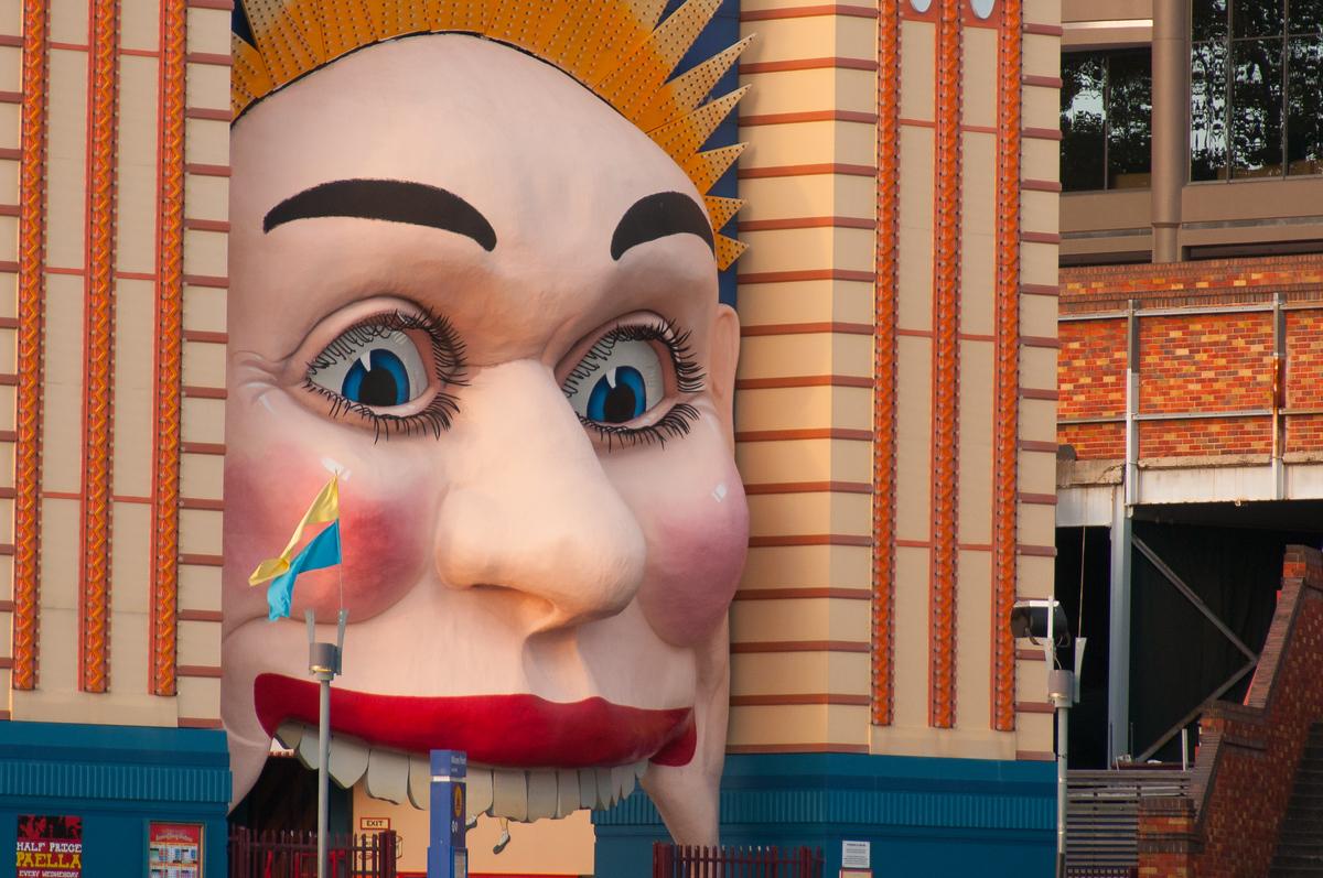 The Luna Park Face from Sydney Harbor, Australia