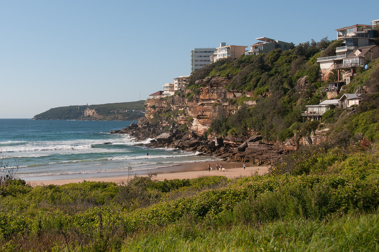 Houses on cliffs in Bronte Beach, Sydney, Australia