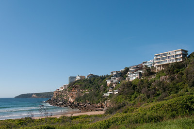 Houses on cliffs near Bronte Beach in New South Wales, Australia