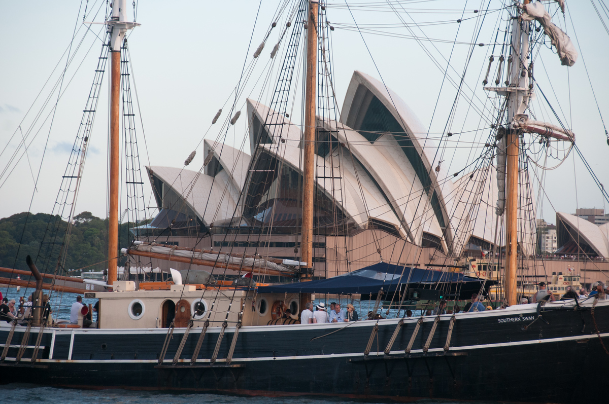 Ship in Front of the Sydney Opera House, Australia