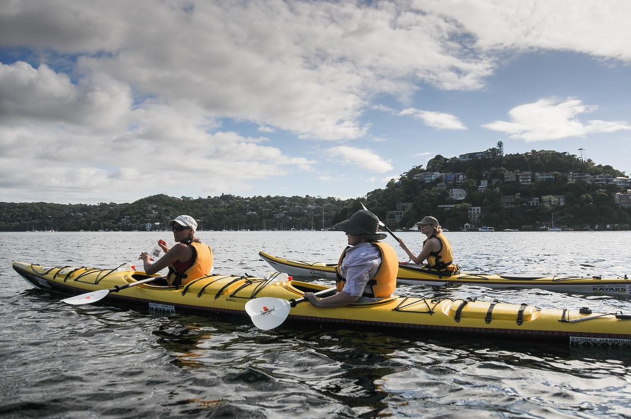 Kayaking in Sydney Harbour, Sydney, Australia