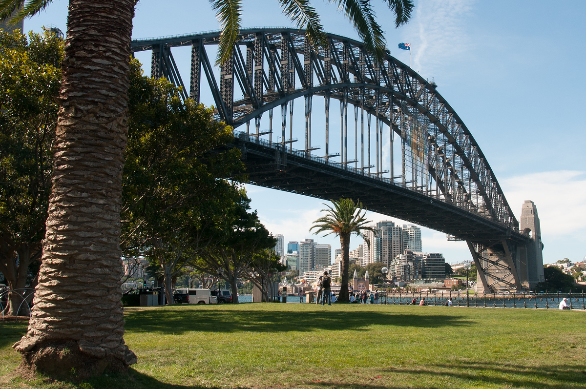 The Harbor Bridge in Sydney, Australia