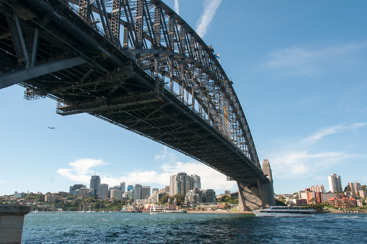 Underneath the Sydney Harbor Bridge