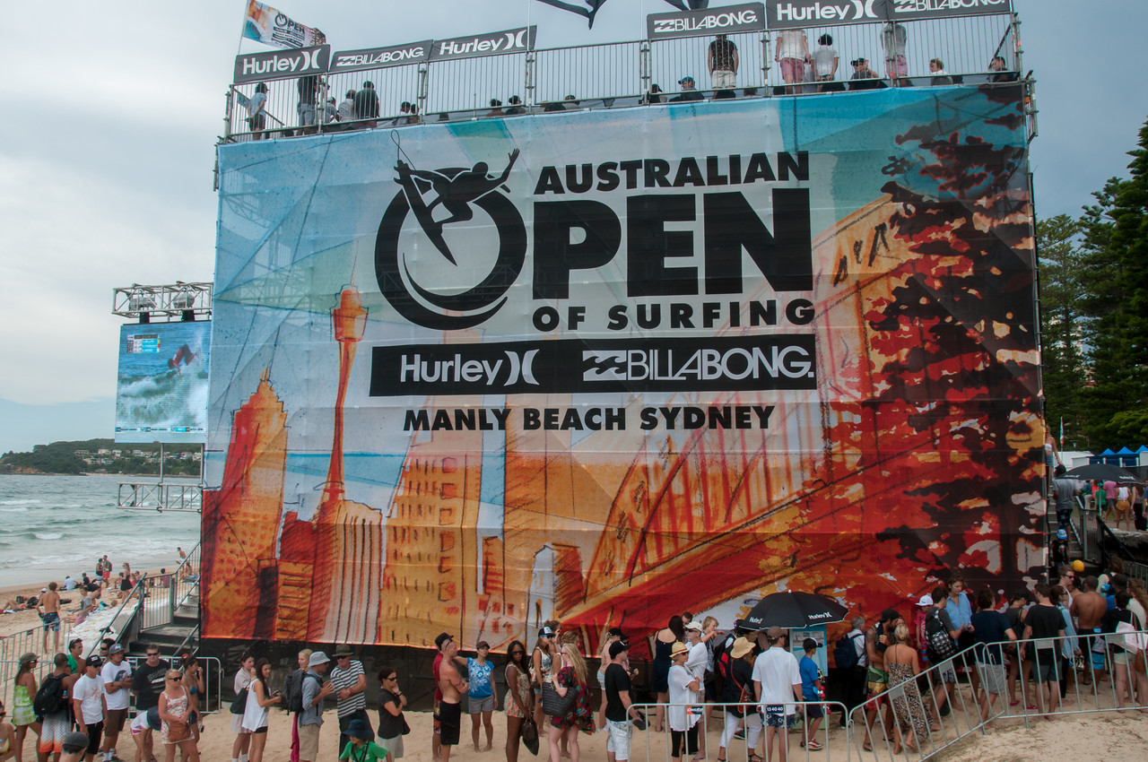 Australian Open of Surfing in Manly Beach, Sydney, Australia