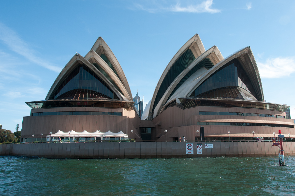 Sydney Opera House as seen from Sydney, Harbor