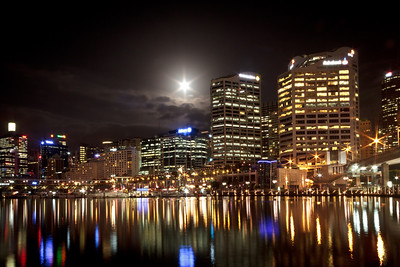 Full Moon over Darling Harbour